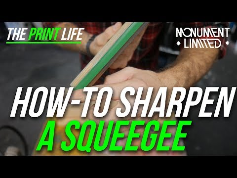 How to make a screen printing squeegee sharpener cheap, fast and effective