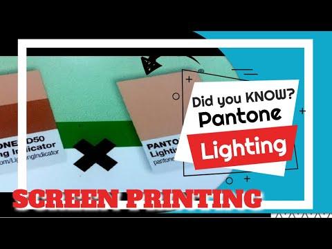Pantone Lighting Indicator   Screen Printing Tutorial in 1 Minute