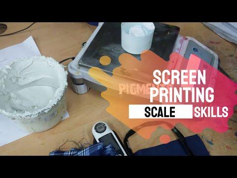 Screen Printing Scale   Screen Printing in 1 Minute