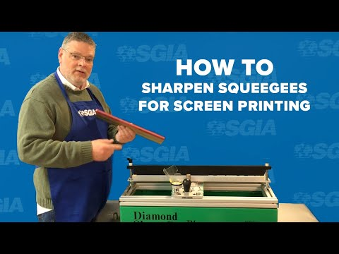 Screen Printing Squeegee Sharpening
