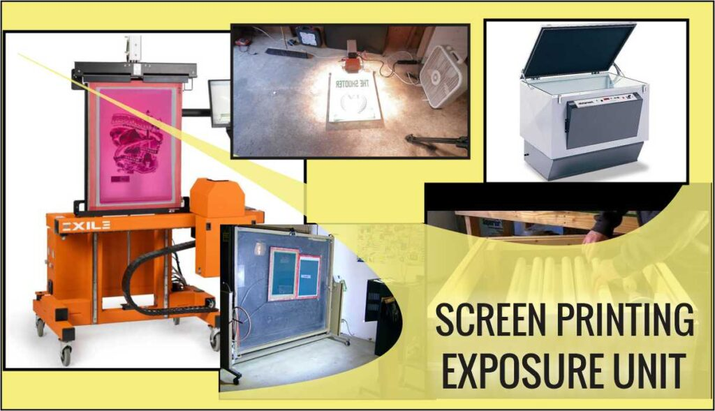 Different Screen Printer Exposure Units from new to old models