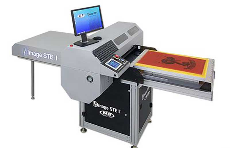 A direkt to screen printer including a Screen Printing Exposure Unit With LED lights