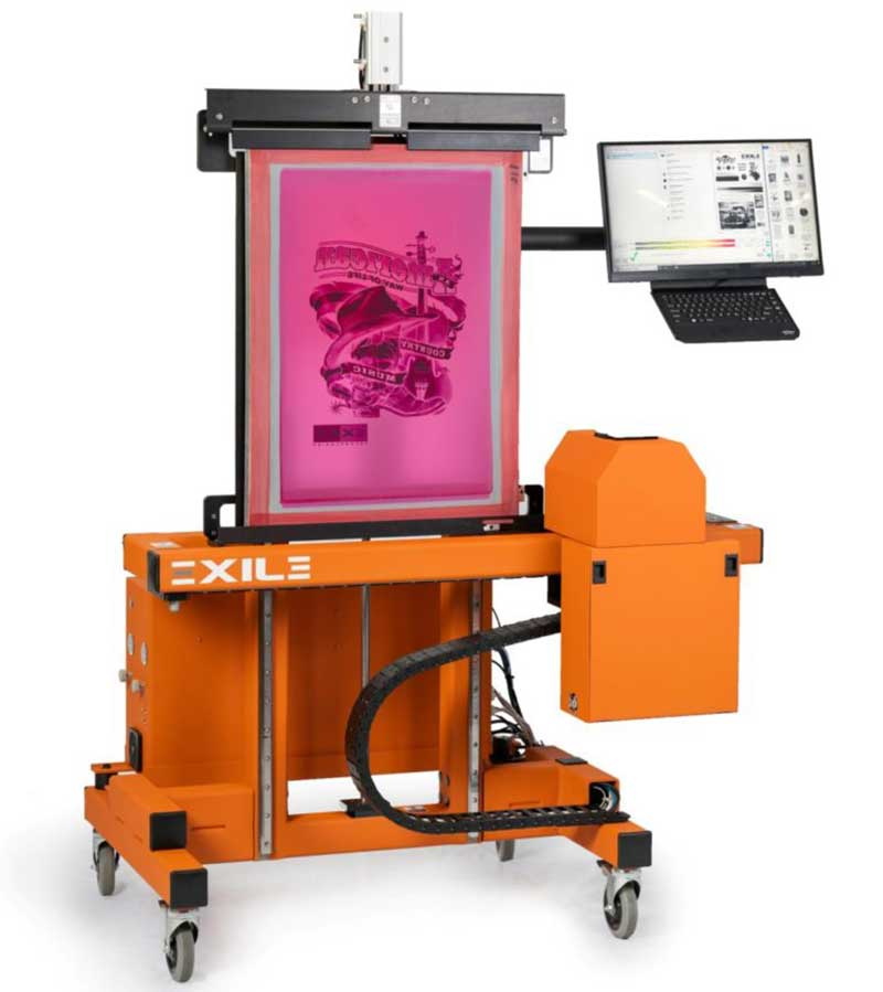 A new Screen Printing Exposure Unit CTS model with Metal Halid