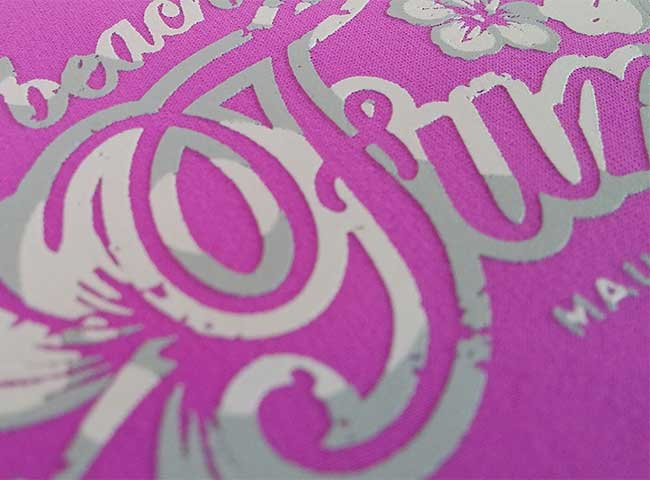 Screen Printing on synthetic fibre