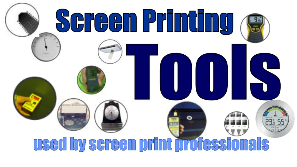 screen printing tools used by professionals