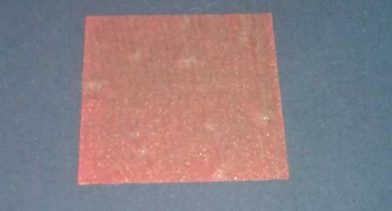 transparent binder printed on dark bodycolor